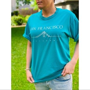 Vtg 90s San Francisco Shirt, Golden Gate Bridge